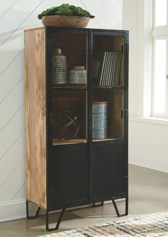 Gabinwell - Black/Brown - Accent Cabinet