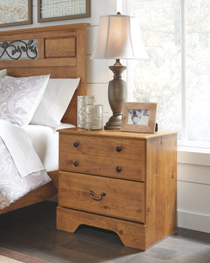 Bittersweet - Light Brown - Two Drawer Night Stand