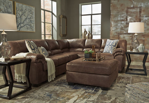 Bladen - Coffee - LAF Loveseat, Armless Chair & RAF Sofa Sectional