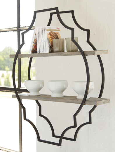 Candon - Antique Gray/Black - Wall Shelf