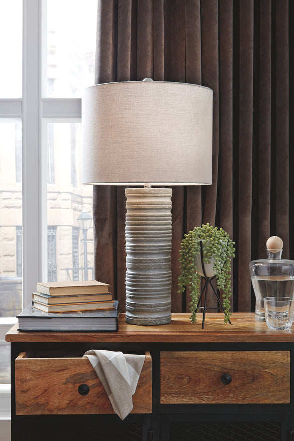 Nadyia - Gray - Paper Table Lamp (2/CN)