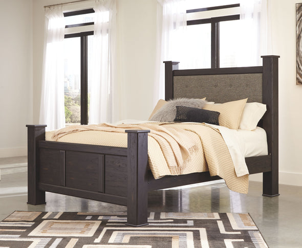 Reylow - Dark Brown -  UPH Poster Bed