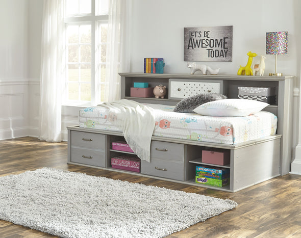 Arcella - Gray - Twin/Full Storage Footboard