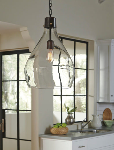 Avalbane - Clear/Gray - Glass Pendant Light (1/CN)
