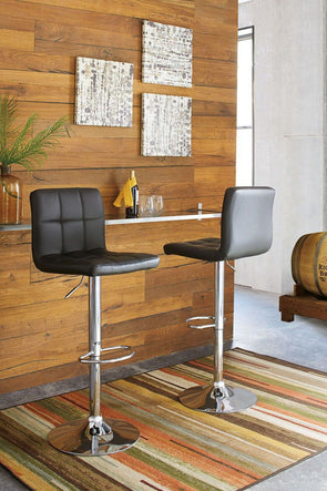 Bellatier - Black/Chrome Finish - Tall UPH Swivel Barstool