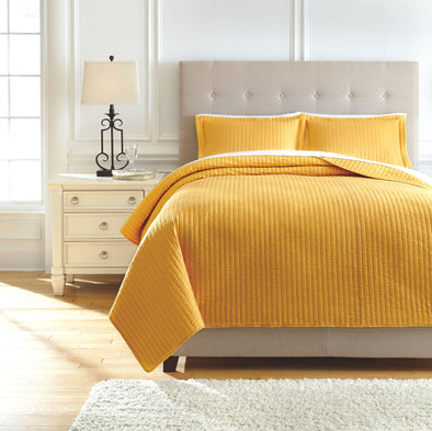Raleda - Ochre - Queen Coverlet Set