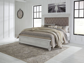 Kanwyn - Whitewash -  Panel UPH Bed