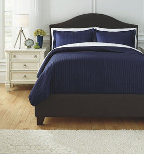 Raleda - Navy - Queen Coverlet Set