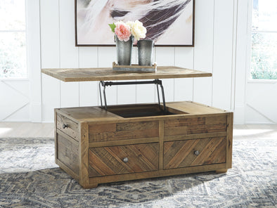 Grindleburg - Grayish Brown - Rect Lift Top Cocktail Table