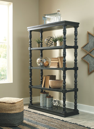 Dannerville - Antique Black - Bookcase