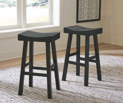 Glosco - Black - Tall Stool (2/CN)