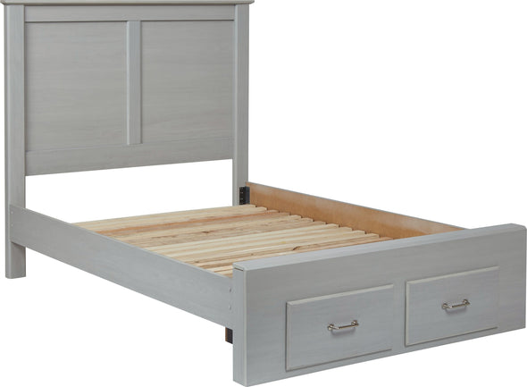 Arcella - Gray - Full Storage Footboard