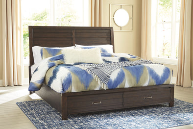 Darbry - Brown -  Panel Bed with Storage