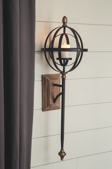 Dina - Black/Gold Finish - Wall Sconce