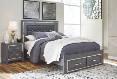 Lodanna - Gray - Queen Storage Footboard