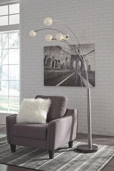Winter - Silver Finish - Metal Arc Lamp (1/CN)