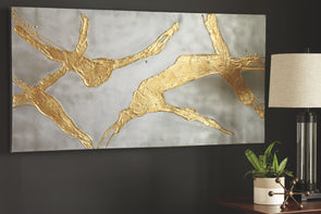 Kasondra - Gold/Silver Finish - Wall Art