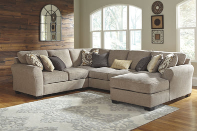 Pantomine - Driftwood - LAF Loveseat, Wedge, Armless Loveseat & RAF Corner Chaise Sectional