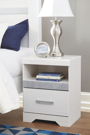 Jallory - White - One Drawer Night Stand