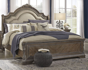 Charmond - Brown -  UPH Sleigh Bed