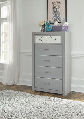 Arcella - Gray - Five Drawer Chest