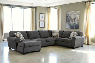 Sorenton - Slate - LAF Corner Chaise, Armless Loveseat & RAF Sofa Sectional
