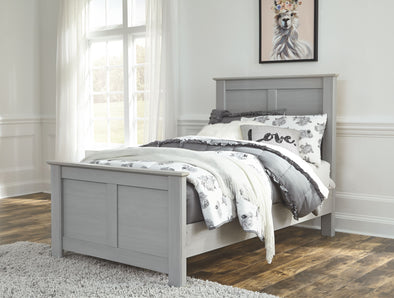 Arcella - Gray -  Panel Bed