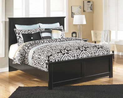 Maribel - Black - Queen Panel Footboard