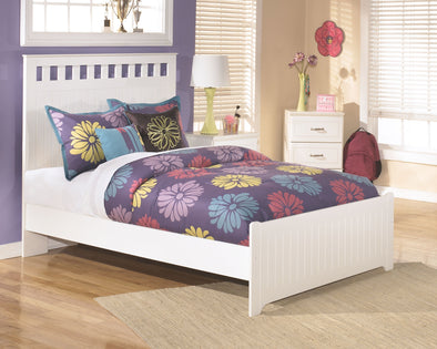Lulu - White -  Panel Bed
