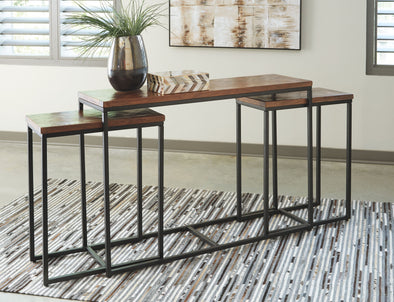 Jadenley - Brown/Black - Console Table Set (3/CN)