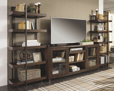 Starmore - Brown - Entertainment Center - XL TV Stand & 2 Piers