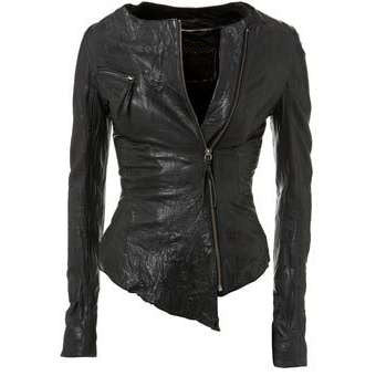 Ladies Washed 100% Soft Lamb Leather AIM Jacket