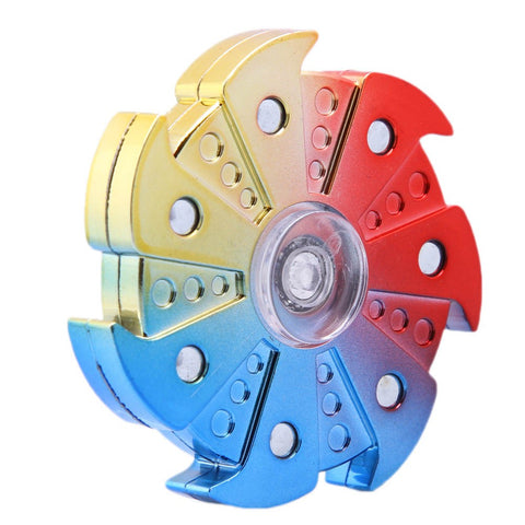 Camouflage Hand Spinner Seven Flap Plastic Iron Fidget Spinner Steel Bearing For Autism ADHD Anxiety Stress Toy - Visiocology