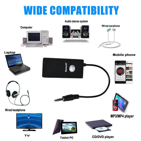 2pcs A2DP Wireless Bluetooth Dongle Adapter Receiver 3.5mm HiFi Stereo Audio + Bluetooth Stereo Headset New - visiocology