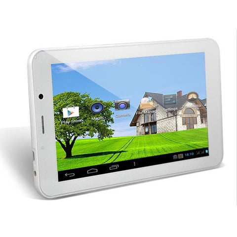 7 inch Phone Tablet PC with 3G Android 4.0 MTK6575 1.0GHz 4GB ROM Analog TV Dual Cameras White - Visiocology