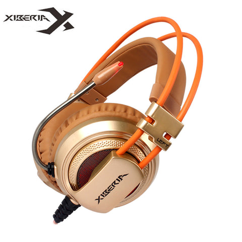 Visiocology : Best Computer Gaming Headset Headband with Microphone Mic XIBERIA V10 Heavy Bass Stereo Game Headphone with Light