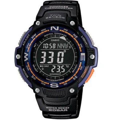 Casio Watches SGW100-2B Twin Sensor Watch Digital compass/Thermometer Clock BluGrn Light