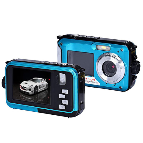 Visiocology : Shipping from USA Double Screen Waterproof Camera 24MP 16x Digital Zoom Dive Camera