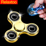 Hand Spinner Toq Brand Fidget Spinner Plating Gold EDC Finger Figet Spiner For Autism ADHD Stress Relief Toys Puzzle Cube Toy 2 - Visiocology