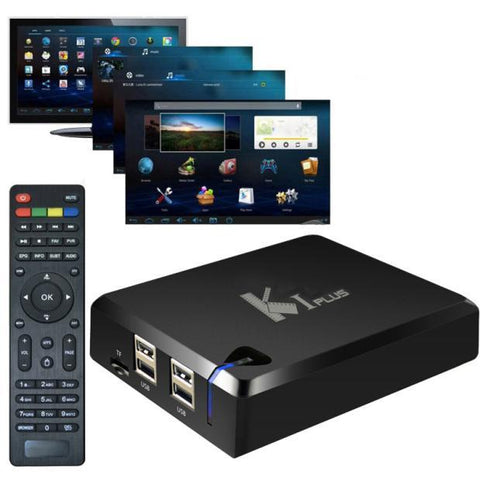 Visiocology ~ Portable Mini K1 Plus S905 OTT Android 5.1 4K FULL HD Smart TV Box 1G/8G WIFI - Visiocology.com