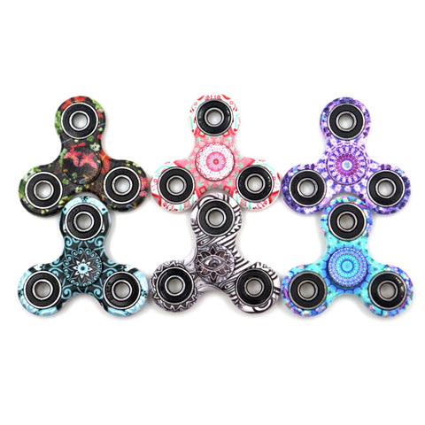 LONSUN Kaleidoscope Color Creative Fidget Spinner ABS Plastic EDC Toys Hand Spinner Spinning Top Anti Stress Toys