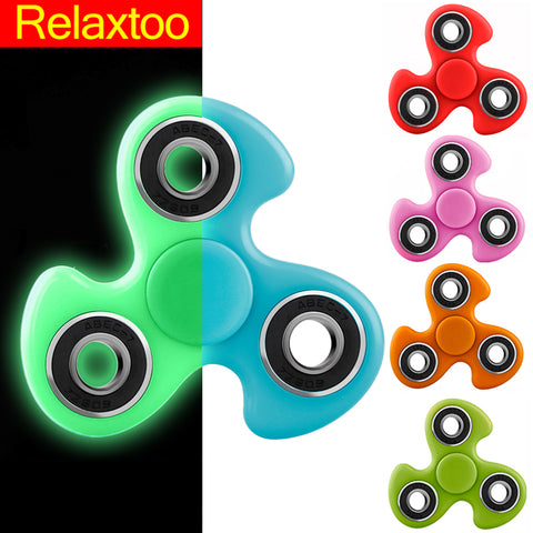 Luminous Fidget Spinner Hand Spinner EDC Tri-Spinner For Autism ADHD Kids / Adult Funny Anti Stress Child Finger Toys 11 Colors - Visiocology
