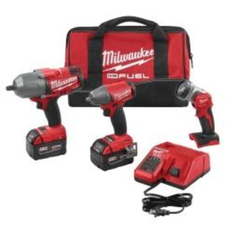 Visiocology : Milwaukee Tools 2896-23 M18 FUEL Cordless Lithium-Ion Impact Wrench Tool Combo Kit + LED Worklight