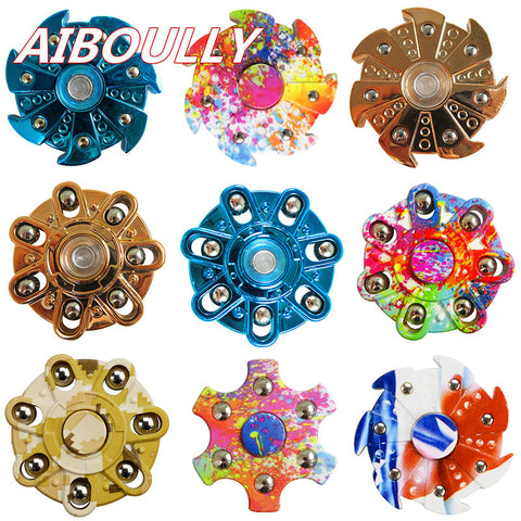 New Multi-style EDC Hand Spinner Autism And ADHD Rotation Time Long Anti Stress ABS Material Finger Gyro Tri-Spinner Fidget Toy - Visiocology