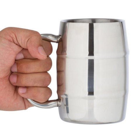Stainless Steel Beer on Draft Beer Mug of Milk a Cup of Coffee Milk Tea Cup 17OZ - Visiocology