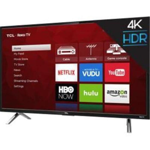 "Visiocology : TCL 43"" 4K UHD 120Hz Roku Smart  LED TV Intelligent (HDR) Technology Television Stream 450,000 Movies & TV"