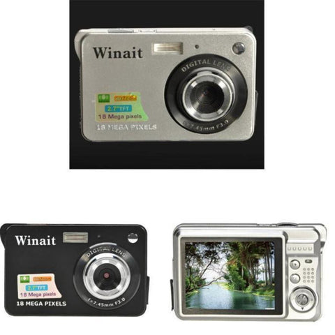 Winait 18 Mega Pixels CMOS 2.7 inch TFT LCD Screen HD 720P Digital Camera LXX51016201SL Black or Silver