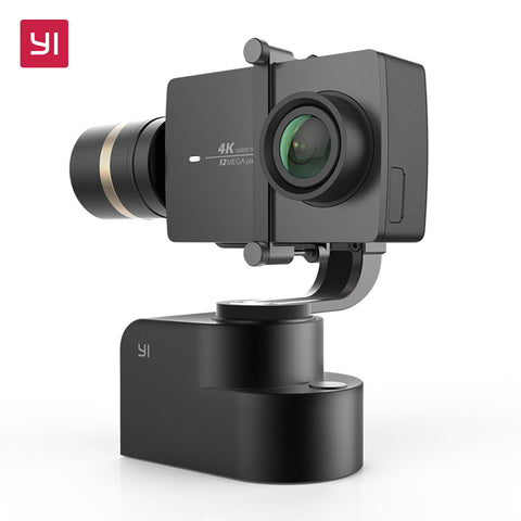 YI Handheld Gimbal Set With YI 4K Action Camera and Selfie Stick & Bluetooth Remote Flexible 3-Axis Gimbal PTZ