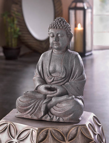 Accent Plus Decorative Meditating Buddha Statue Fiberglass Home Decor Praying Buddha Figurine-Visiocology