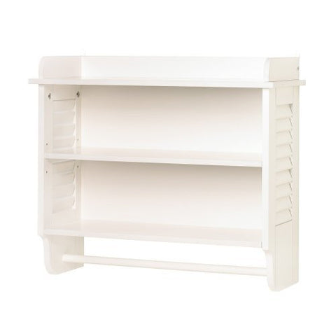 Accent Plus 10014706 Nantucket Bathroom Wall Shelf - Visiocology